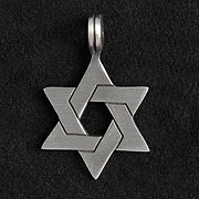 Pewter Star of David Necklace