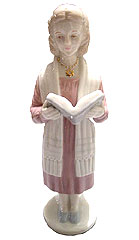 Porcelain Bat Mitzvah Girl Statue