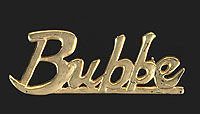 Gold Plated BUBBE Pin