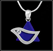 Sterling Silver Star with Dove Pendant