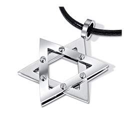 Large Star of David Necklace - 2-Tone