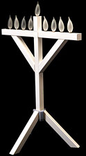 PVC Indoor / Outdoor Menorah - 32'' High