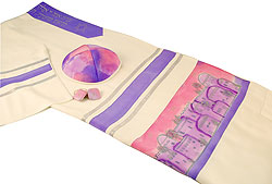 Viscose Tallit Set - Jerusalem Design