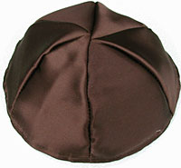 Satin Kippot with Optional Personalization - Brown