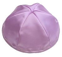 Satin Kippot with Optional Personalization - Lavender