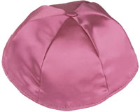 Satin Kippot with Optional Personalization - Mauve
