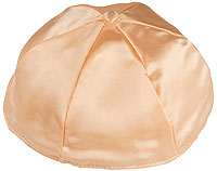 Satin Kippot with Optional Personalization - Peach