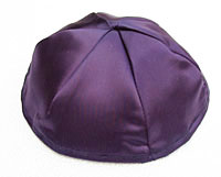 Satin Kippot with Optional Personalization - Purple