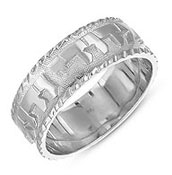 Sterling Silver Ani Ledodi Wedding Band