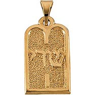 14K Gold Tablets Pendant