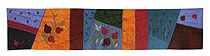 Judaic Table Runner - Pomegranates on Multi Colors