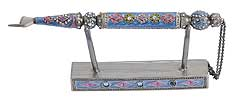 Jeweled Torah Pointer with Matching Stand