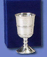 Silverplated Kiddush Cup with Velvet Box