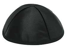 Premuim Black Satin Kippot - Personalized
