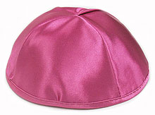 Premium Satin Kippah -Hot Pink