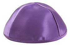 Premium Satin Kippah - Medium Purple