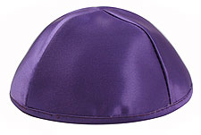 Premium Satin Kippot - Purple