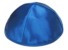 Premium Satin Kippot - Royal Blue