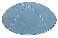 Light Blue Suede Kippot