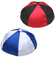 Multi Colored Satin Kippot