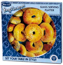 Glass Bagel Serving Tray
