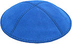 Suede Kippot - Royal Blue