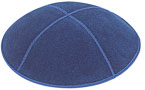 Suede Kippot - Dark Royal