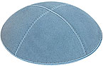 Suede Kippot - Light Blue