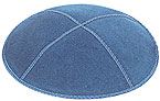 Suede Kippot - Denim