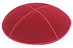 Suede Kippot - Red