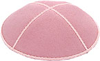 Suede Kippot - Light Pink