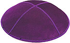 Suede Kippot - Purple