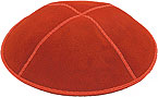 Suede Kippot - Orange