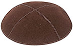 Suede Kippot - Brown