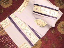 Soft Cotton Luxurious Tallit Set - Matriarchs on Lavender