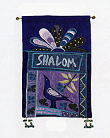 Shalom Wall Hanging - Multi Blue's