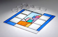 Art Glass & Metal Seder Plate - Jerusalem in Color
