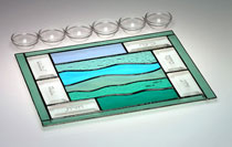 Art Glass & Metal Seder Plate - The Crossing
