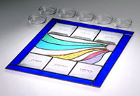 Art Glass & Metal Seder Plate - Miriam