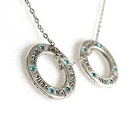 Double Spiritual Rings and Blessing Neckalce