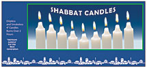 White Shabbat Candles