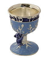 Exquisite Kiddush Cup - Good Boy - Blue / Silver
