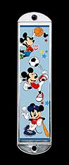 Metal Mezuzah Cover - Sports Mickey Mouse
