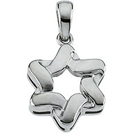 Sterling Silver Star-of-David Pendant - Braid