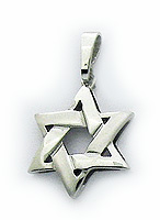 14K 3D Star of David Pendant