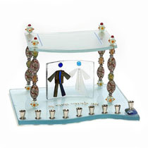 Fuied Glass Menorah - Beads of Life Chupah