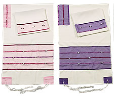 Poly Cotton Tallit Set by Ronit Gur