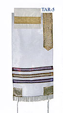 Emanuel Organza Tallit Set - White and Gold