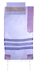 Organza Tallit Set By Emanuel - Lavender (Shades of Purple)