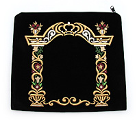 Embroidered Tfilin Bag - Floral Archway in Color